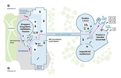 A map of the Science Centre, Level 2.