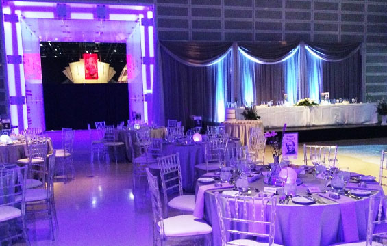 The HotZone at the Ontario Science Centre transformed for a private event.
